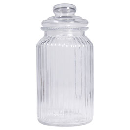 Vorratsglas, gerillt 22,5 cm hoch