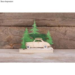Holz-Steckteile *Bäume und Auto*