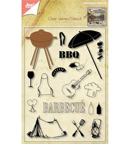 Clear-Stamps plus  Stanze**Barbecue BBQ / Grillen!