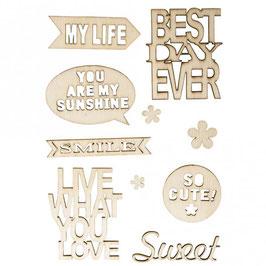 Holz-Schriftzüge *Live & Love*