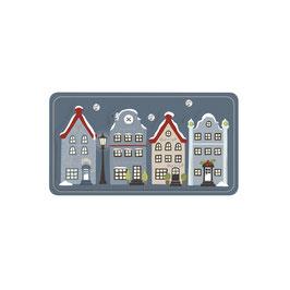 3D Papier-Accessoires *4 Häuser*