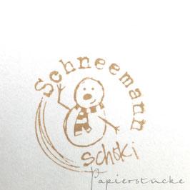 Stempel *Schneemannschoki*