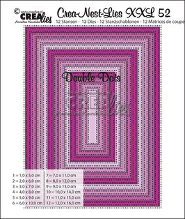Crea-nest-Lies XXL No. 52 *Double Dots rectangles*