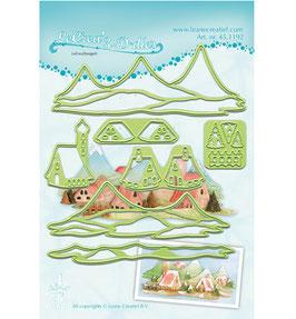 Stanzschablonen-Set 3D - 7teilig *Landscape houses*