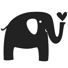 Mini-Holz-Stempel *Elefant*