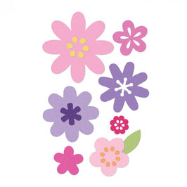 Sizzix / Thinlits Set *Flower Layers&Leaf*