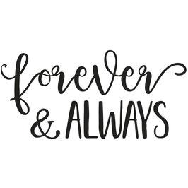 Holz-Stempel *Forever&Always*