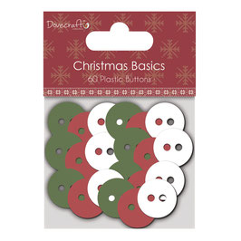 Christmas Basics *Buttons / Knöpfe* in rot-weiß-grün!