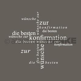 Holz-Typostempel *Beste Wünsche zur Konfirmation*