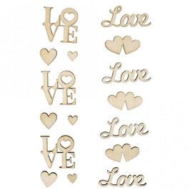 Holz-Schriftzüge Love