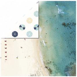 KaiserCraft Scrapbookingpapier Serie *Summer Splash* Beach Umbrellas