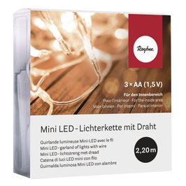 20er Mini LED-Lichterkette für innen in warmweiß