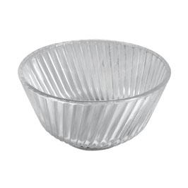 Glas Schale mit Rillen**Set mit 2 Stück