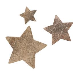 Holz-Streudeko Sterne mit Glitter