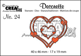 Crea-Lies Stanzschablonen-Set *Intertwined hearts*