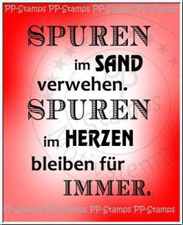 Stempelgummi *Spuren im Sand verwehen...*