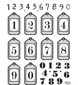 Clear-Stamp - 30-teiliges Silikon-Stempelset *Zahlen*