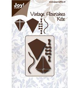 Stanz- und Prägeschablone *Vintage Flourishes - Vlieger*