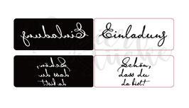 "Prägefolder/Embossing Folder-Set ""Einladung"" (2 Stück)"