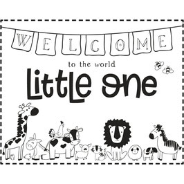 Holz-Stempel *Welcome Little one*