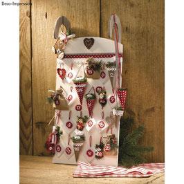 Weihnachten - *Holz-Schlitten* Adventskalender / Deko