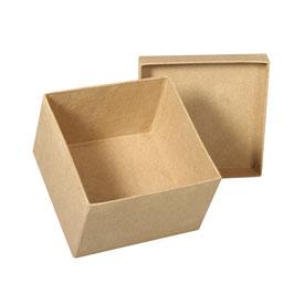 Pappmaché Schachtel FSC Recycled 100% *Quadrat*