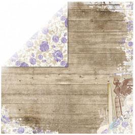 3 verschiedene Bögen Scrapbookingpapier von BoBunny Penny Emporium