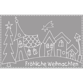 Holzstempel  *Fröhliche Weihnachten*
