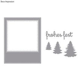 Stanzschablonen-Set *Polaroid Frohes Fest*