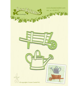 Stanzschablonen-Set *Lea'bilitie Barrow & watering can* Karre und Gießkanne*!