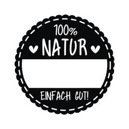 Holzstempel rund *100% Natur*!