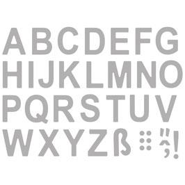 Stanzschablonen Set *Classic Alphabet* Großbuchstaben