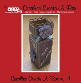 Crealies Create A Box Stanzschablonen-Set No. 4 *Geschenkbox*