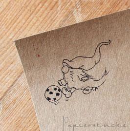 Stempel *Tomte spielt Fußball*