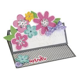 Sizzix / Thinlits Set *Flower Layers&Leaf*