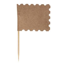 Flaggenpicker mit Zierrand in Natur oder weiß