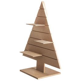 Weihnachtsbaum aus MDF mit 3 Regalbrettern!