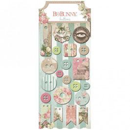 BoBunny - Buttons passend zu der Designerpapier Serie *Soirée*
