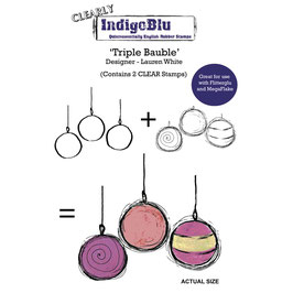 Clear-Stempel-Set *Triple Bauble*!