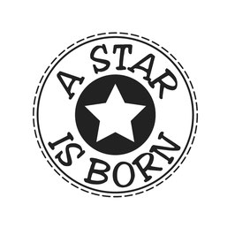 Holz-Stempel *A Star is born*