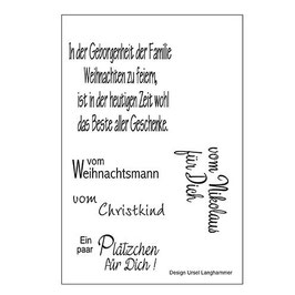 Clear-Stamp Set * Weihnachten 6*