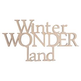 Holzschrift *WinterWONDERland*