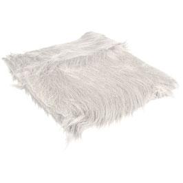 Langhaarplüsch* in weiß (30 x 48 cm)