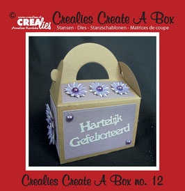 Crealies Create A Box Stanzschablonen-Set No. 12 *Gable box*