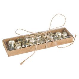 Metallglöckchen, 1,5 cm ø, glänzend und matt in kaschmir-gold oder silber