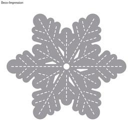 Stanzschablone *große Schneeflocke*