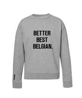 """BETTER BEST BELGIAN"" GREY SWEATER MEN"