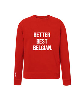 """BETTER BEST BELGIAN"" RED SWEATER MEN"
