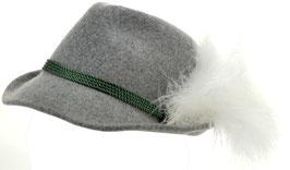Trachtenhut grau mit Adlerflaum (Imitat)