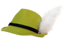 Trachtenhut apfelgrün mit Adlerflaum (Imitat)